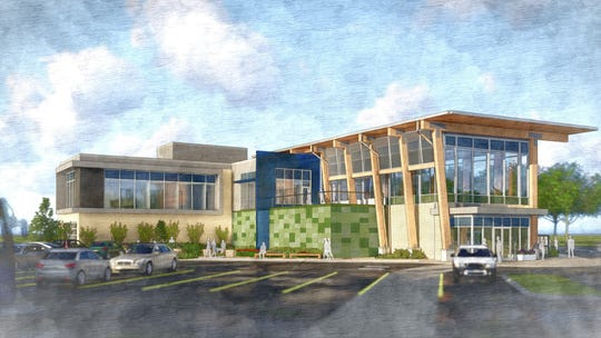 A rendering of the new, $6.5 million Green Bay area visitors center that will be built near the I-41 and Lombardi Avenue interchange.