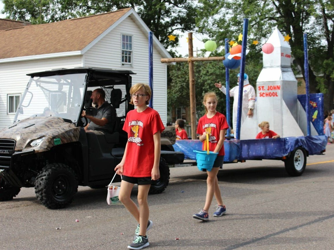 The St. John Lutheran School float was one of eight entries judged best of show in the 88th Suring Labor Day Parade.