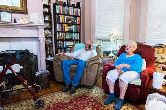 Jimmy Williams, 80 and his wife Ellen Louise Williams, 79, of Swan Quarter, N.C, will be staying in their home for the duration of Hurricane Florence, making landfall Thursday, Sept. 13, 2018.