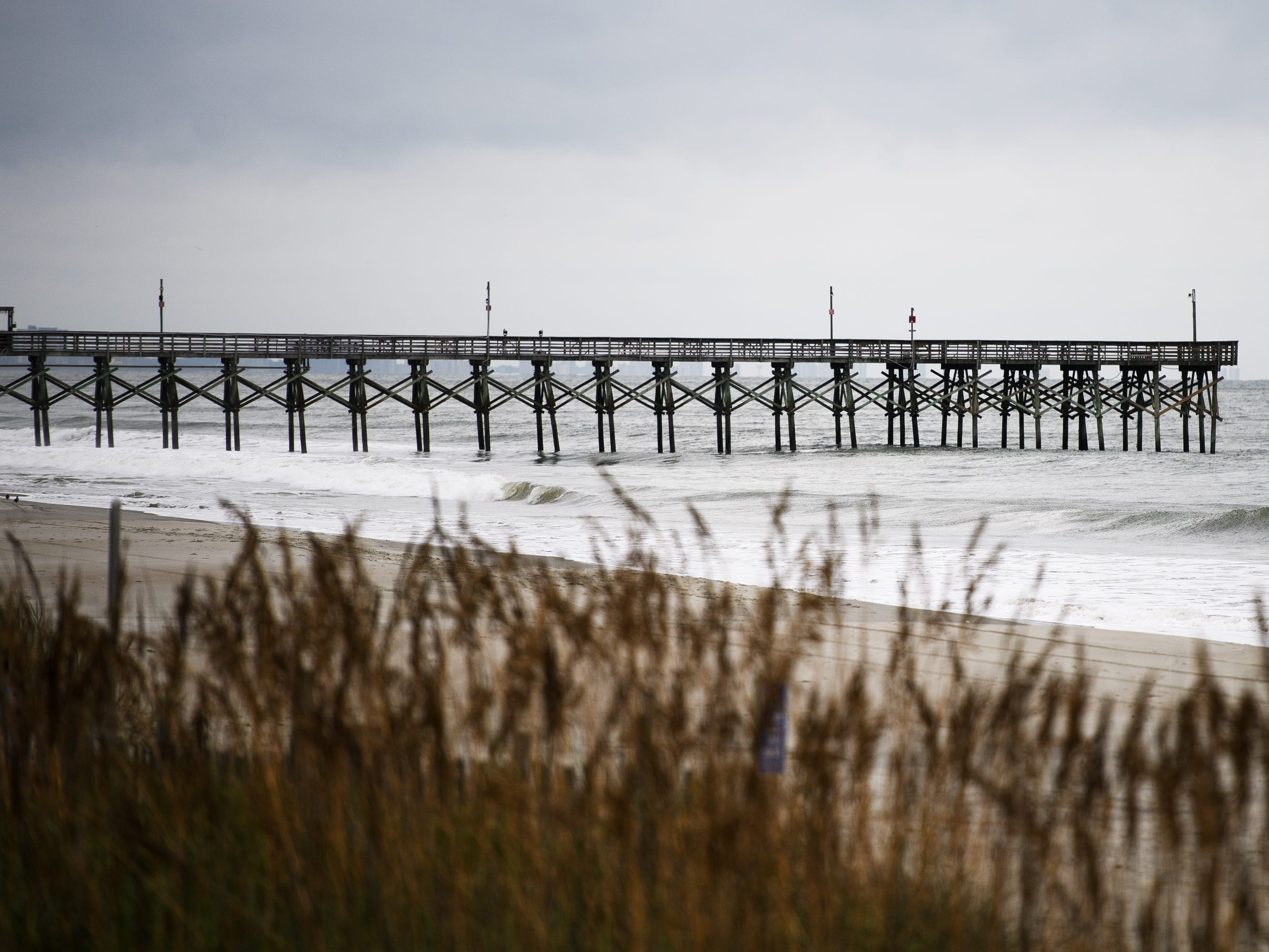 The pier at the Myrtle Beach Boardwalk and Promenade on Thursday, Sept. 13, 2018 before Hurricane Florence's arrival.