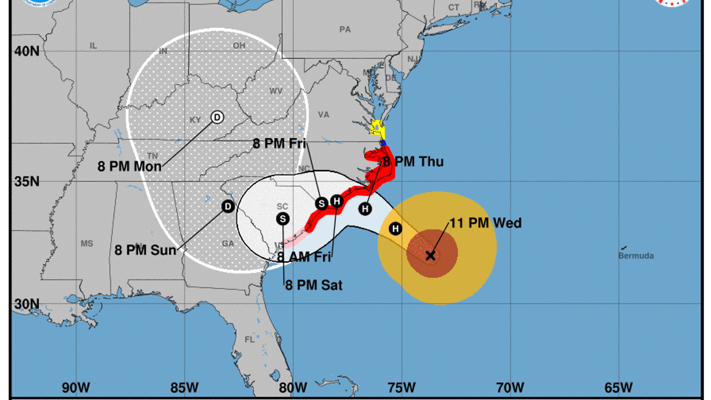Hurricane Florence: The storm has weakened but is speeding up