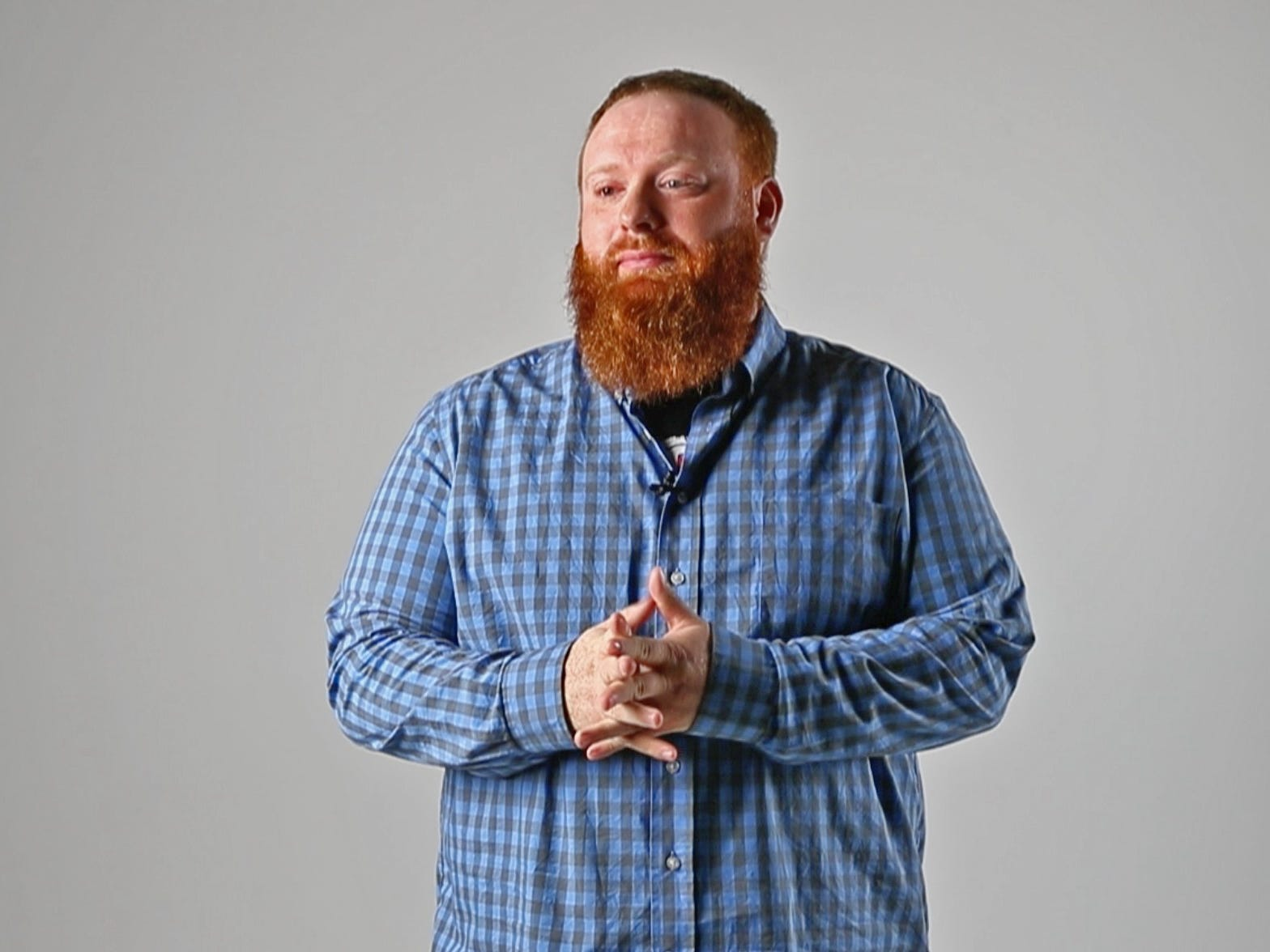 Brent Terhune, seen Friday, Sept. 7, 2018, is a stand-up comedian who has recently received a lot of exposure for his redneck parody videos that use satire to address hot-button topics in the news.