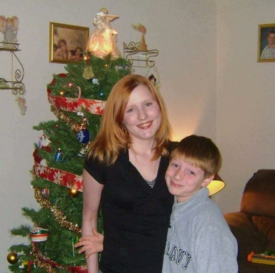 Lucas with his mom..