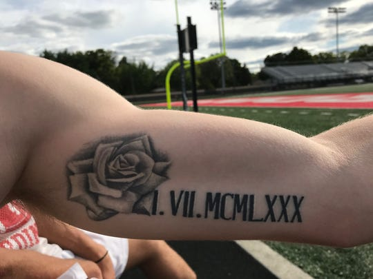 Lucas Willoughby's mother, Jessica Kathleen Leo, was born on Jan. 7, 1980. He has the date in Roman numerals on his arm with a rose, her favorite flower. She died at age 31 in 2011 after battling cystic fibrosis.