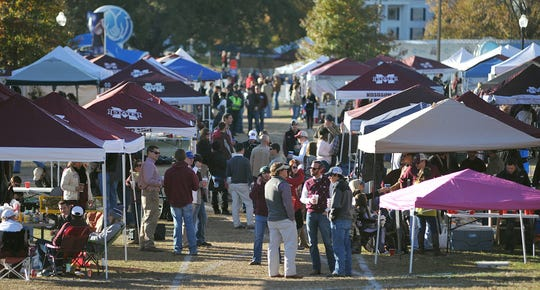 It's tradition for Mississippi State fans to tailgate outside Davis Wade Stadium in Starkville.