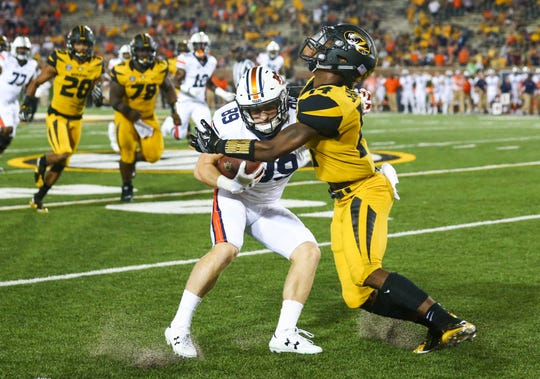 Missouri defensive back Adam Sparks (right) will face his older brother, Jared, a receiver at Purdue, in Saturday's game at Ross-Ade Stadium