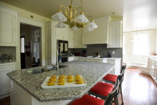 A peek inside the kitchen in the 9,000-square-foot eight-bedroom home of Kjersten and Greg Offenecker of St. Johns. The home was built in 1861.