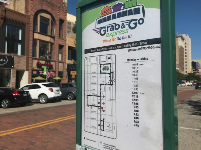 The Grab & Go Express launched Sept. 4, 2018. It's a free midday route that travels through downtown Lansing to Old Town on week days.