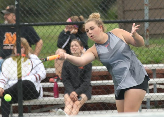 Lexington senior Hayliegh Tucker made it to state last season in doubles.