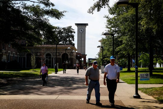 V. Lane Rawlins Clock Tower on the University of Memphis campus.