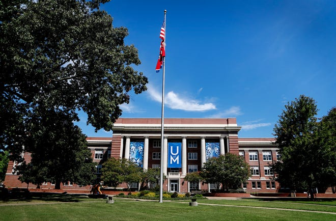 Administration Building on the University of Memphis campus.