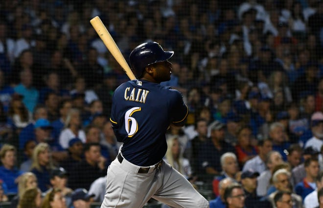 Lorenzo Cain had adjusted his swing the past few games to accommodate the soreness in his right rib cage area.