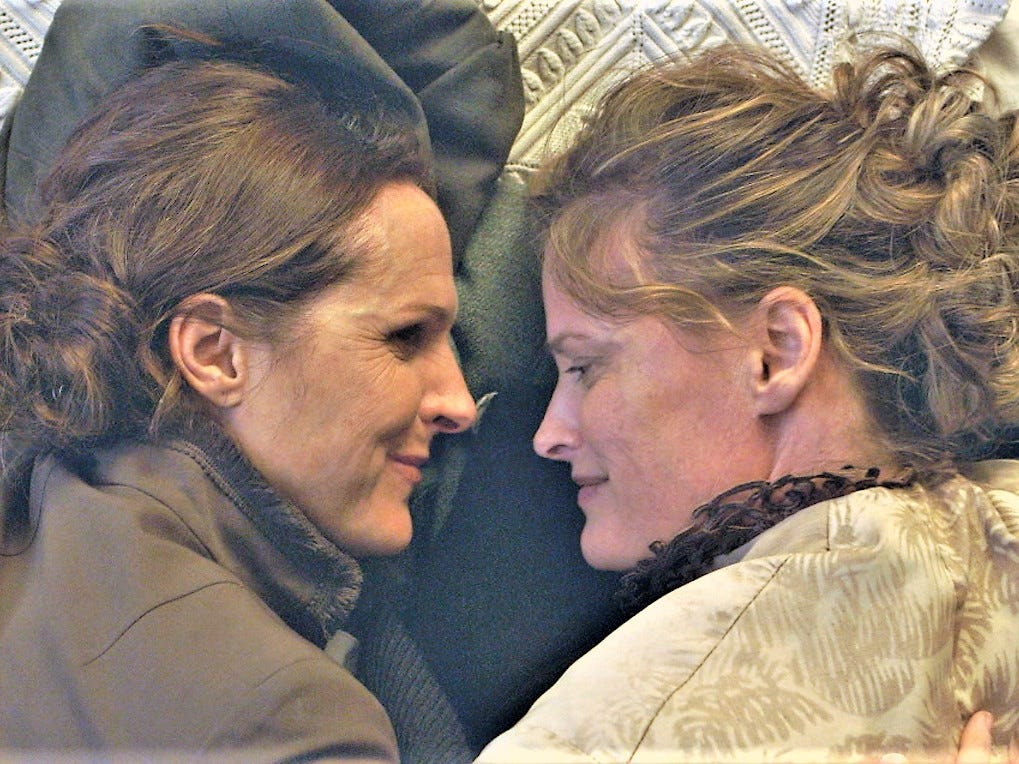 "Molly Shannon (left) plays Emily Dickinson in ""Wild Nights With Emily,"" the centerpiece film at the 2018 Milwaukee Film Festival."
