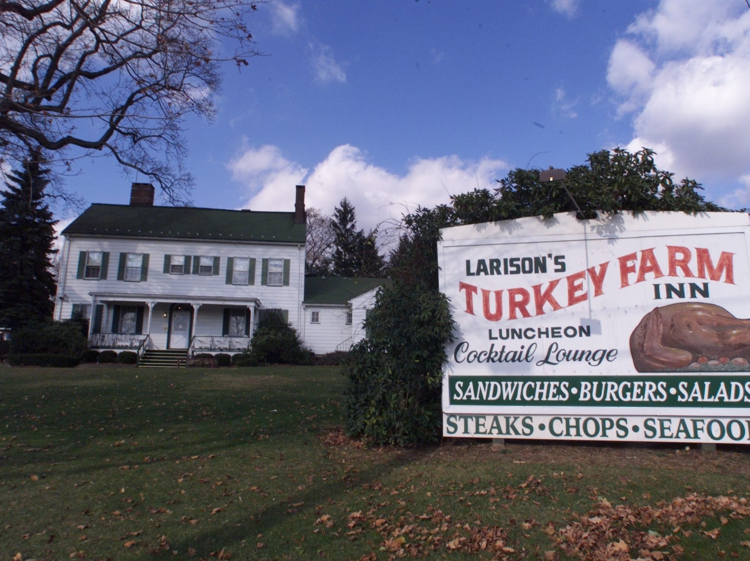 Developers are eyeing Chester's historic Larson's Turkey Farm property for development. The 19th century farm complex for generations was occupied by a restaurant serving family-style meals.