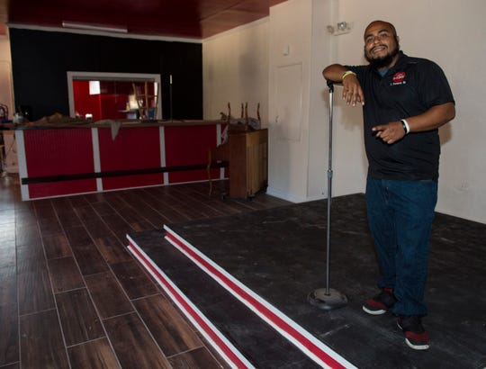 That's My Child Program Director Jonathon Peterson Sr. inside That's My Dog Junior restaurant under construction in Montgomery, Ala., on Thursday, Sept. 13, 2018. That's My Dog Junior is an all-teen run restaurant started by owner Charles Lee as a combination between his restaurant and youth ministry.