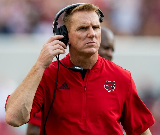 Arkansas State head coach Blake Anderson in second half action against Alabama at Bryant Denny Stadium in Tuscaloosa, Ala., on Saturday September 8, 2018.