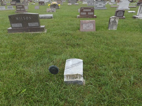Gravestones and decorations were toppled or destroyed in recent days at Brookside Cemetery in Blackford County.