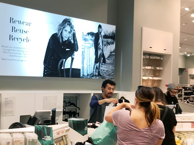 H&M offers a 15 percent discount coupon for shoppers who donate used clothing.