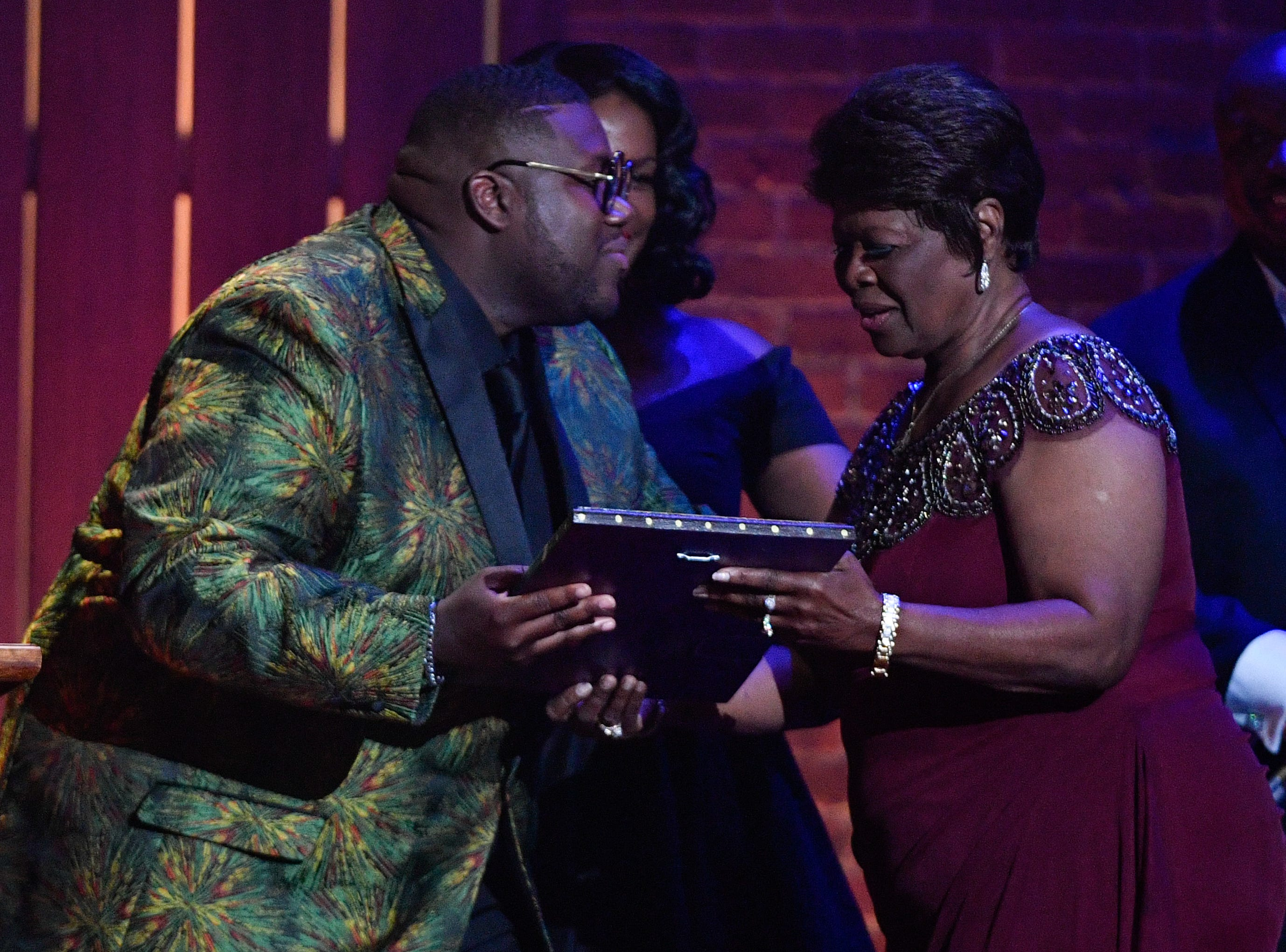 The War and Treaty present Irma Thomas with the Lifetime Performance Award performs during the 2018 Americana Honors and Awards show at the Ryman Auditorium in Nashville, Tenn., Wednesday, Sept. 12, 2018.