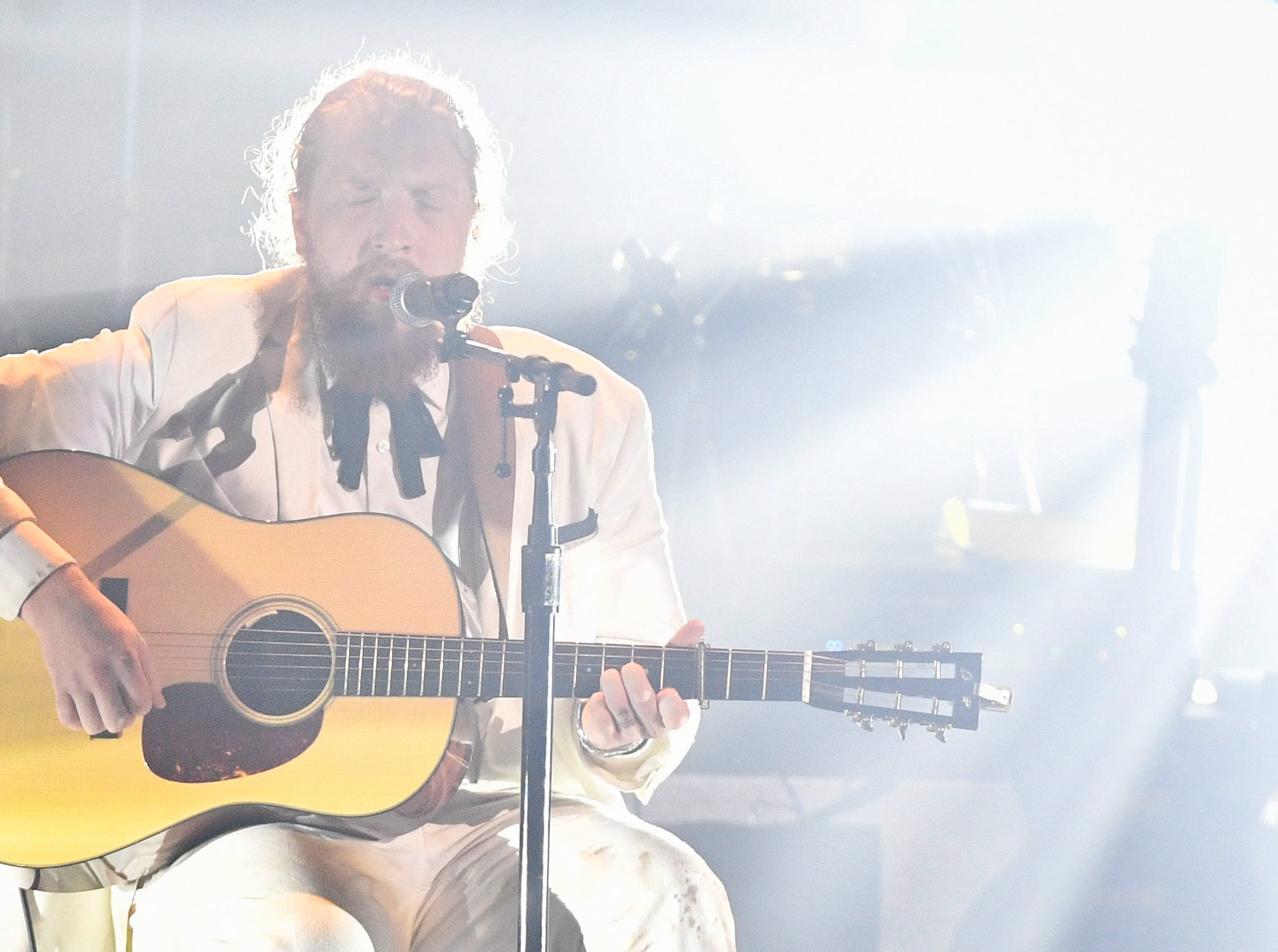 Tyler Childers performs during the 2018 Americana Honors and Awards show at the Ryman Auditorium in Nashville, Tenn., Wednesday, Sept. 12, 2018.
