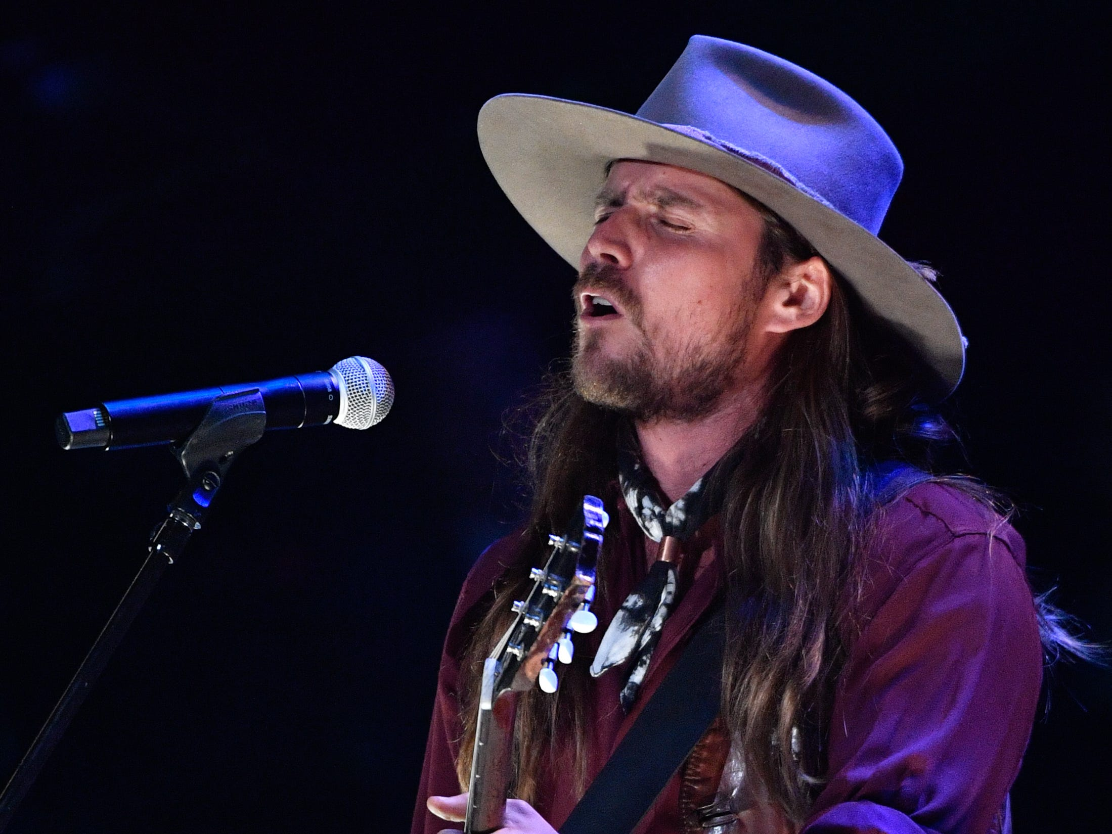 Lukas Nelson and Promise of the Real perform during the 2018 Americana Honors and Awards show at the Ryman Auditorium in Nashville, Tenn., Wednesday, Sept. 12, 2018.