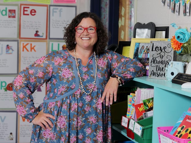 Teacher Melissa Miller is photographed in her classroom at Franklin Elementary School Wednesday September 12, 2018.