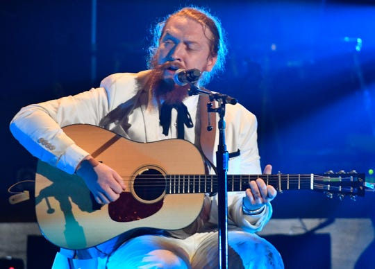 Tyler Childers performs during the 2018 Americana Honors & Awards show at the Ryman Auditorium in Nashville on Sept. 12, 2018.