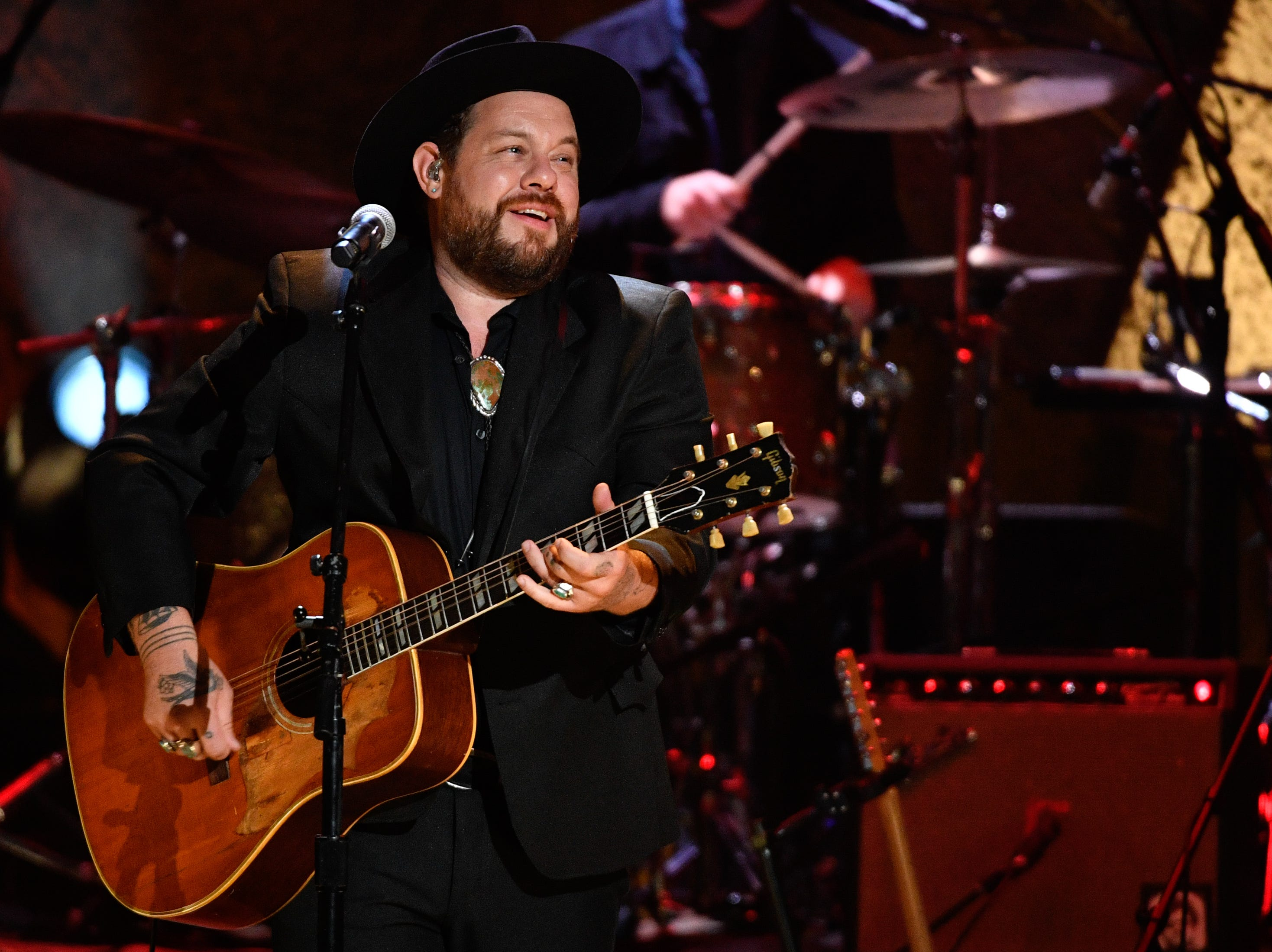 Nathaniel Rateliff and The Night Sweats perform during the 2018 Americana Honors and Awards show at the Ryman Auditorium in Nashville, Tenn., Wednesday, Sept. 12, 2018.