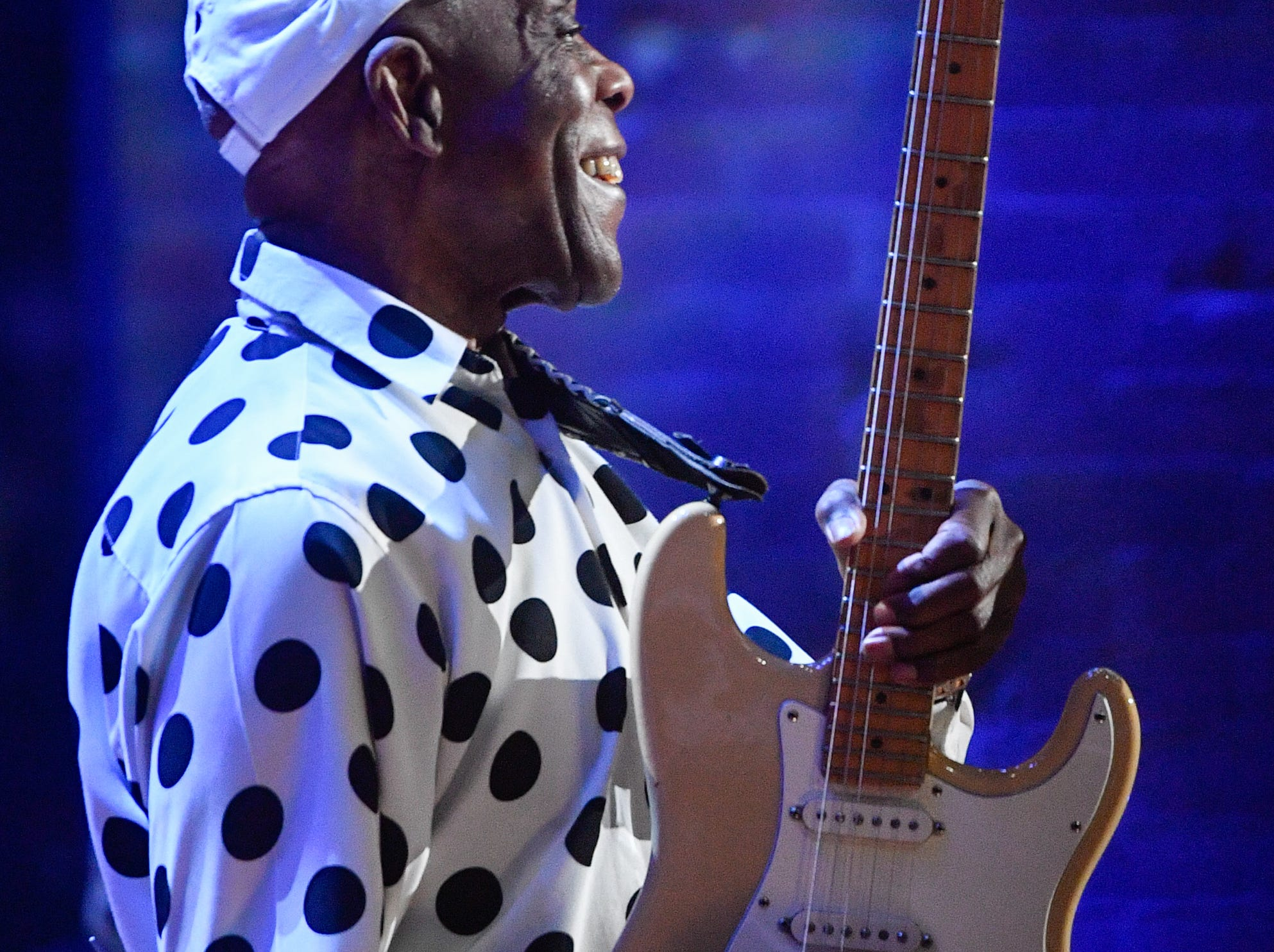 Buddy Guy performs during the 2018 Americana Honors and Awards show at the Ryman Auditorium in Nashville, Tenn., Wednesday, Sept. 12, 2018.