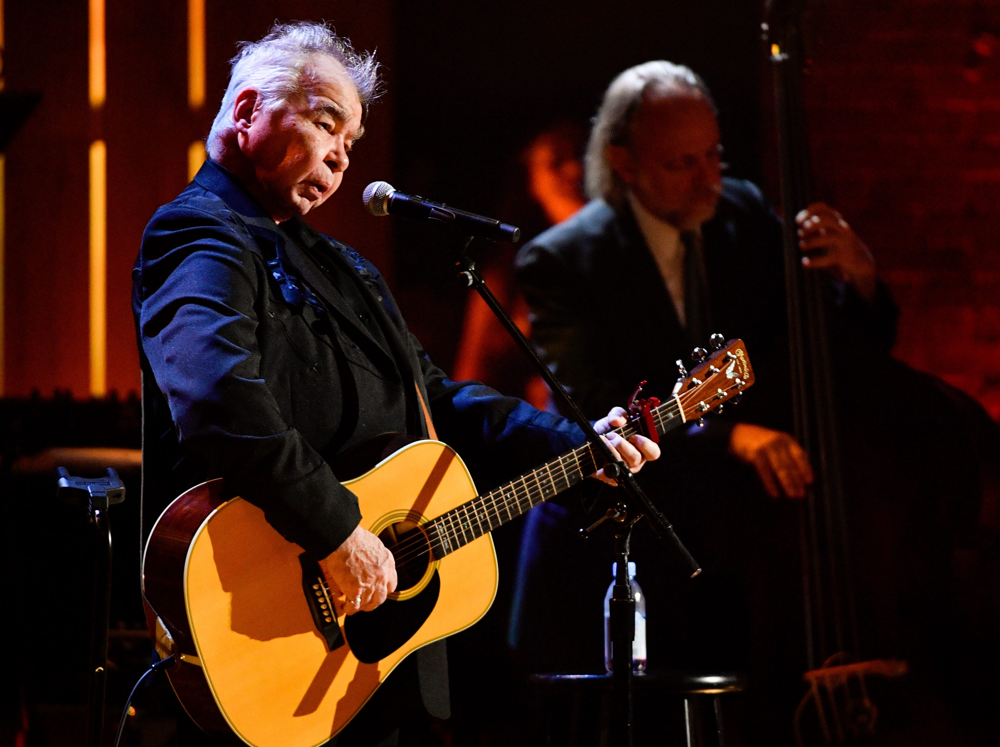 John Prine performs during the 2018 Americana Honors and Awards show at the Ryman Auditorium in Nashville, Tenn., Wednesday, Sept. 12, 2018.