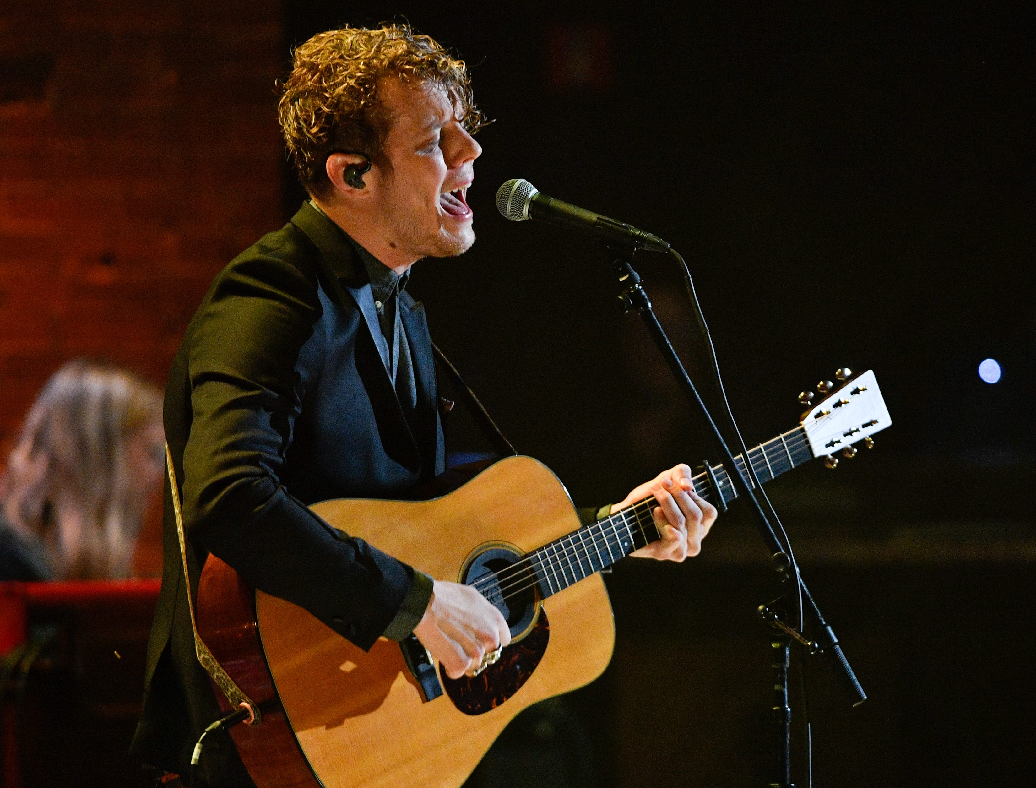 Anderson East performs during the 2018 Americana Honors and Awards show at the Ryman Auditorium in Nashville, Tenn., Wednesday, Sept. 12, 2018.