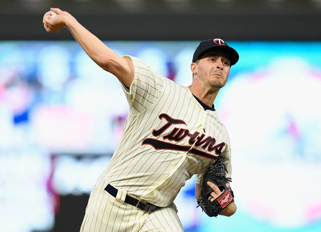 MINNEAPOLIS, MN - SEPTEMBER 12: Jake Odorizzi of the Minnesota Twins delivers a pitch against the New York Yankees during the second inning of the game on September 12, 2018 at Target Field in Minneapolis, Minnesota.