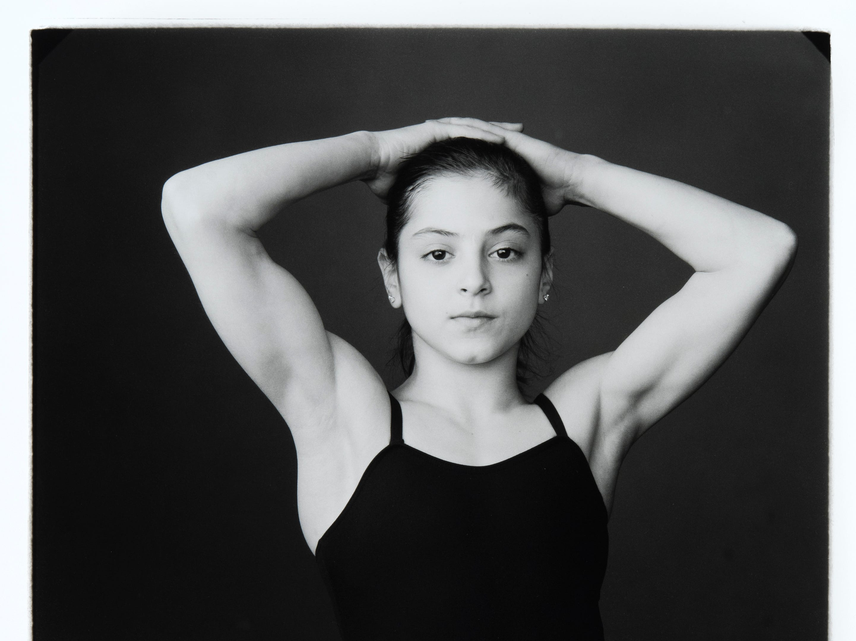 Celebrity Culture: Annie Leibovitz Dominique Moceanu, Houston, Texas, 1996  Gelatin silver print on paper  Collection Zimmerli Art Museum at Rutgers  Gift of Anne and Arthur Goldstein  Photo Peter Jacobs