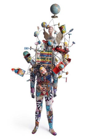 """Soundsuit"" is a work by Nick Cave, on view as part of ""Constructing Identity in America'' at the Montclair Art Museum in Montclair."