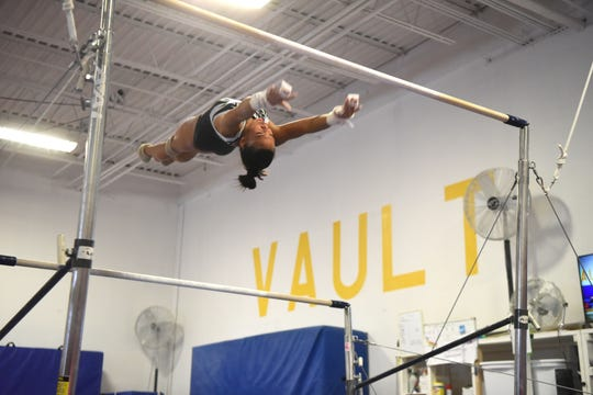 Corinne Bunagan 15, of Ramsey, a member of the Philippines National Gymnastics Team, is competing in the 48th Annual Artistic World Gymnastic Championships in Doha, Qatar beginning on October 25, 2018. Bunagan trains  at ENA Gymnastics in Paramus on Thursday, September 13, 2018.
