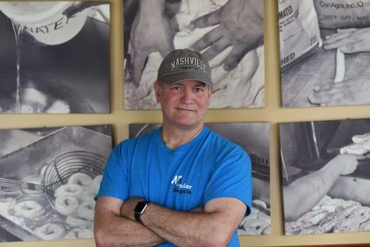 Hector Sanchez, bagel roller at Wonder bagels in Jersey City