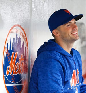 Sep 13, 2018; New York City, NY, USA;   New York Mets third baseman David Wright (5) in the dugout during a game against the Miami Marlins at Citi Field.