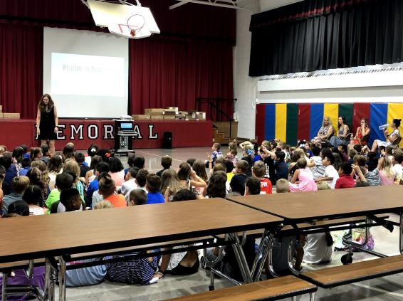 Memorial School's gymnasium as it exists today.