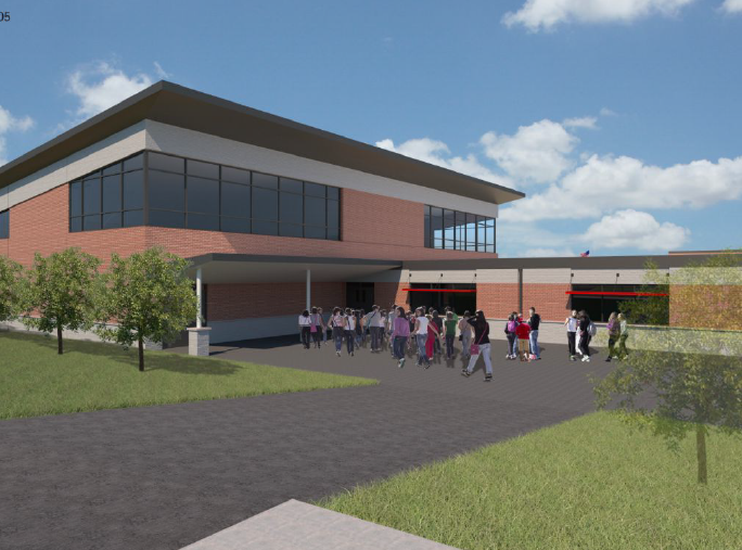 Proposed upgrades to the rear of Memorial Elementary School.
