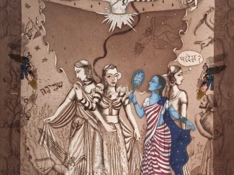 """""""Constructing Identity in America"""": """"Directions on How to Wear an Indian- Jewish Sari"""" by Siona Benjamin"""