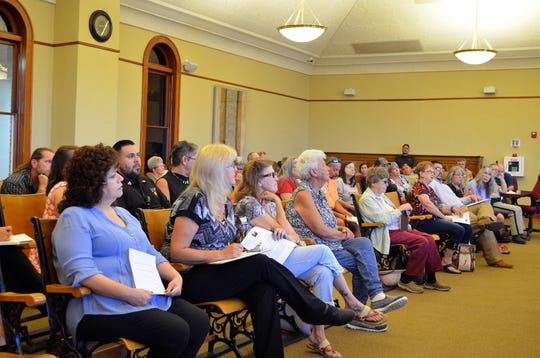 Luna County community members filled the seats at the Luna County Court House to listen in on the Ruff Ruff Animal Sanctuary situation and to give input.
