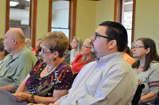 Matt Robinson, president of the Deming-Luna County Humane Society, was one of many attendees at the Luna County work session on Thursday.