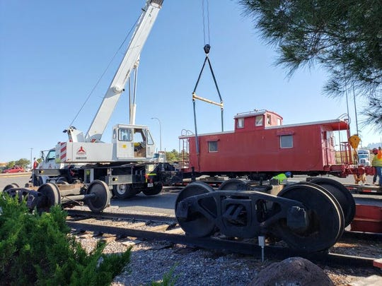The little red caboose at McDonald's, 2330 E. Lohman Ave., was removed from the fast food restaurant early Wednesday morning to make room for a rebuild that will take place in July 2019.