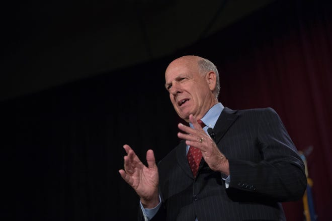 Rep. Steve Pearce, candidate for New Mexico Governor, speaks at the 2018 Domenici Public Policy Conference, Thursday, September 13, 2018, at the Las Cruces Convention Center.