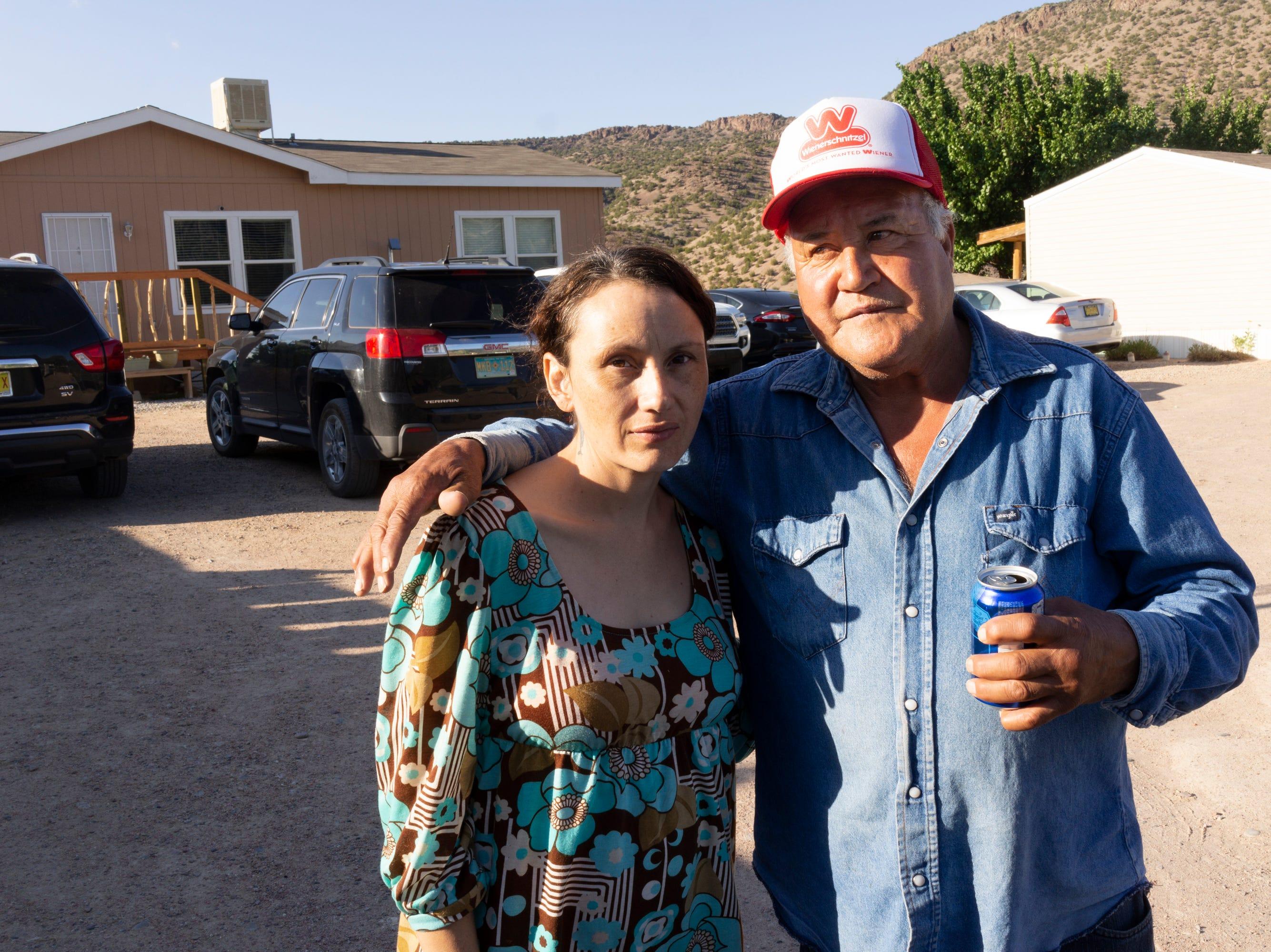 Emilia with her father, Emilio, in Cañones.