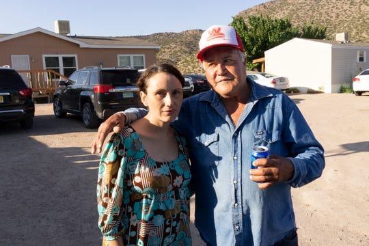 Emilia with her father, Emilio, in Cañones.