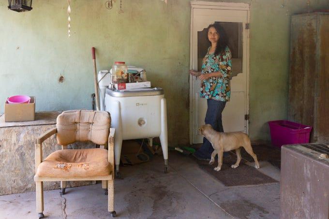 Emilia at her grandma's house in Cañones.
