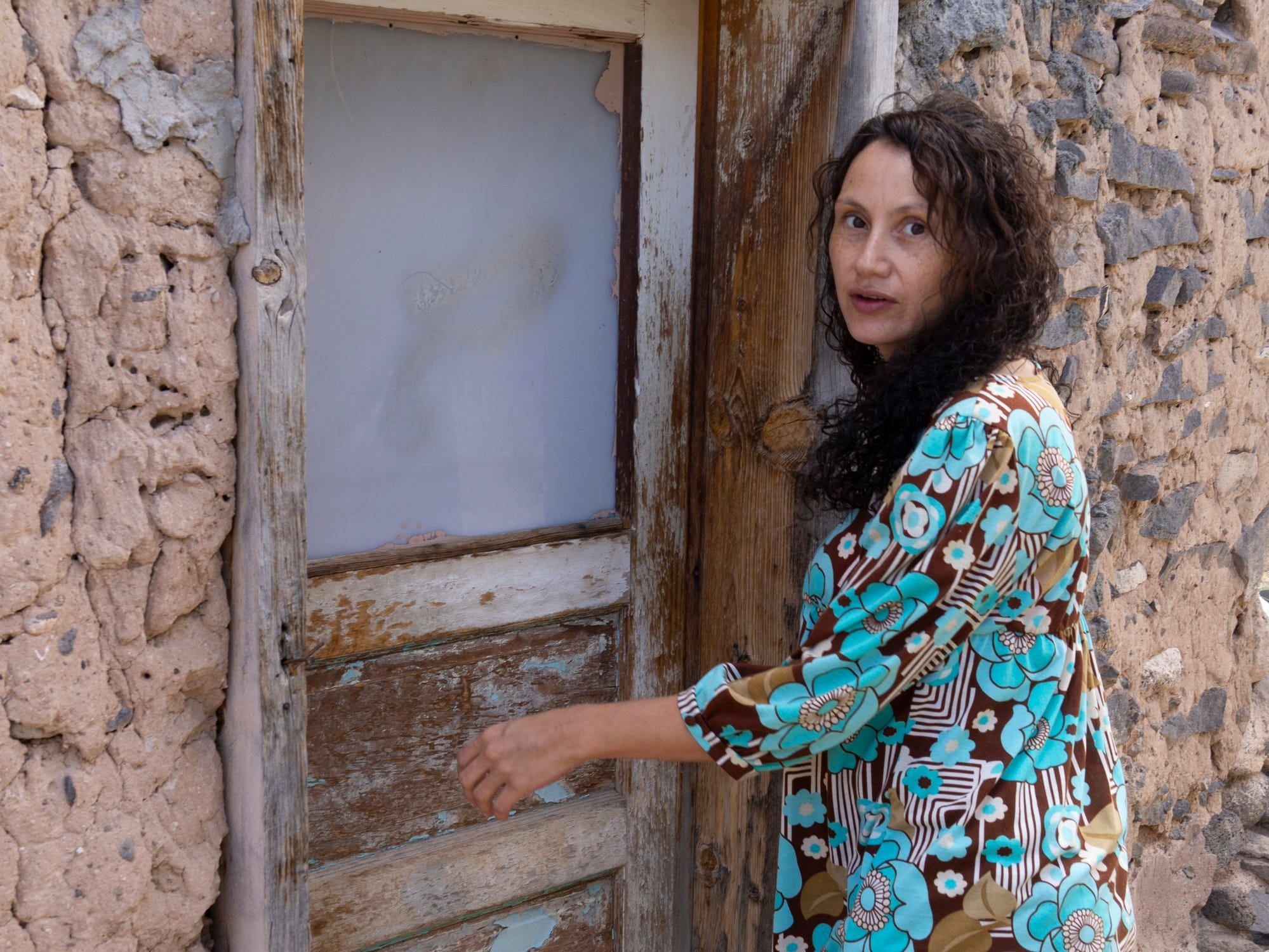 Emilia at the soterrano in Cañones.