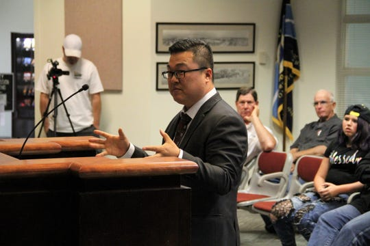 Downtown Venture Corp. CEO Jay Chun, shown here in a Daily News file photo, talked to Alamogordo City Commissioners about the City's concerns with the Family Fun Center during an Aug. 21 meeting.