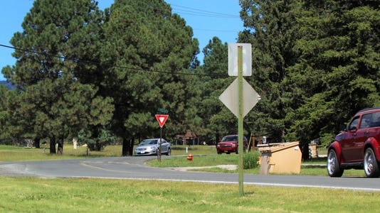 traffic signs on Country Club and Paradise